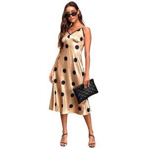 Moon River polka dot slip dress
